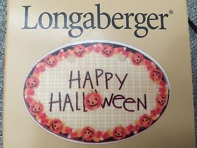 Longaberger 1999 Happy Halloween Basket Tie-On Brand New and in Box