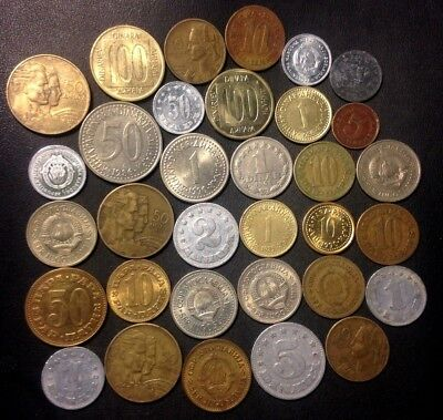 Old Yugoslavia Coin Lot - 1945-Cold War - 33 Great Coins - Lot #M22