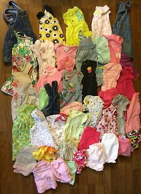 baby girls spring summer clothes dresses outfits sz 6/9 months lot of 44 Oshkosh