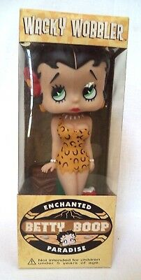 2003 Funko Wacky Wobbler Enchanted Paradise Betty Boop New Old Stock Bobblehead