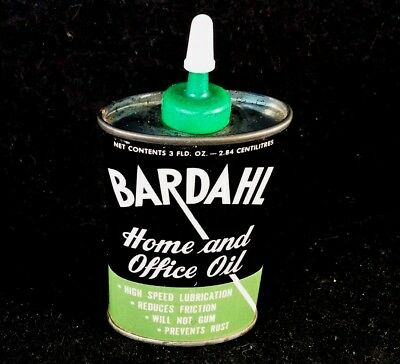 Vintage Bardahl Home And Office Oil Handy Oiler 3 oz NOS Advertising Tin Can