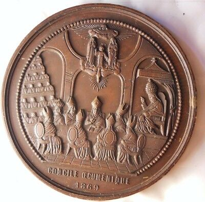 1869 VATICAN CITY - Infallibility of the Pope - Blondeley - GEM Medal - Lot #M22