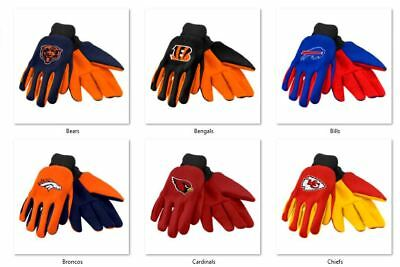 NFL Colored Palm Utility Gloves by Forever Collectibles -Select- Team Below