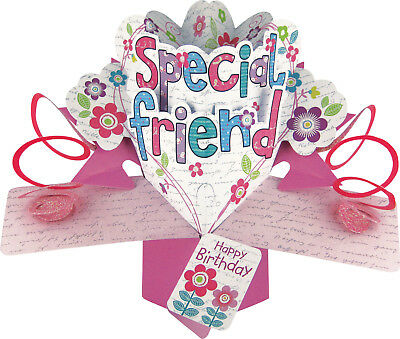 Special Friend Birthday Pop Up Card 3D Luxury Unique Greeting Gift Card