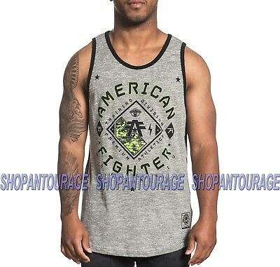 8174e54a AMERICAN FIGHTER Richmond FM4923 Men`s New Graphite Tank Top By Affliction