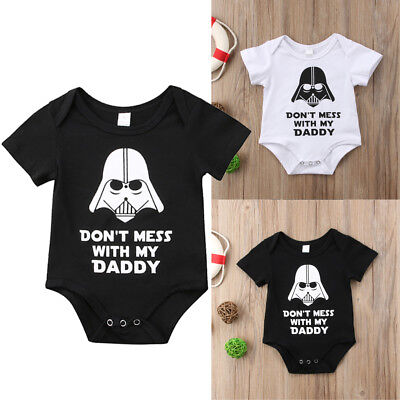 Star Wars Newborn Infant Baby Boy Girl Bodysuit Romper Jumpsuit Clothes Outfits