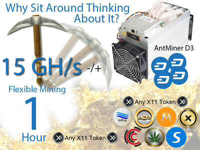 x11 Mining Contract 1 Hour Blocks @ 18.9GH/s -/+ 5% Slot #1  Available Now