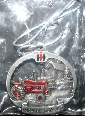 IH International Farmall 1066 Tractor 2010 Pewter Christmas Ornament 7th Series