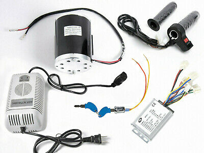 1000 W 48 V motor+Reverse speed controller+keylock+Charger+Throttle with switch