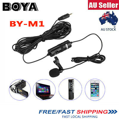 【AU】BOYA BY-M1 Lavalier Condenser Microphone for iPhone Samsung DSLR Camcorder