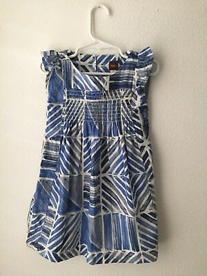 Tea Collection Blue White Dress 3 3T