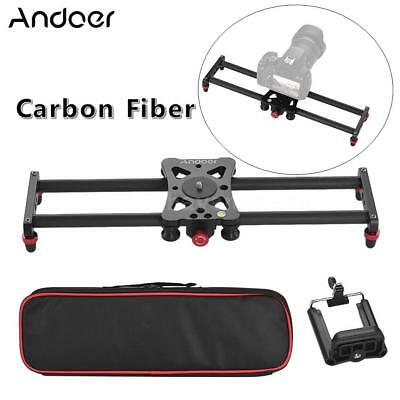40cm Portable Carbon Fiber DSLR Camera Track Slider Stabilizer Phone Clip Holder