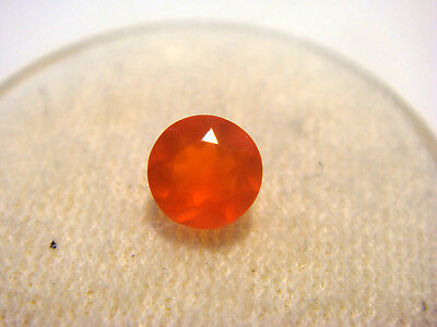Fire Opal from Mexico 5 mm Round Cut 0.50 Carats Natural Faceted Opal