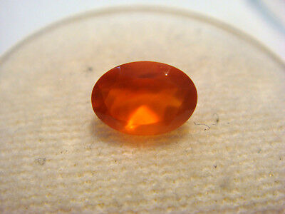 Fire Opal from Mexico 7 mm x 5 mm Oval Cut 1 Carat Natural Faceted Opal