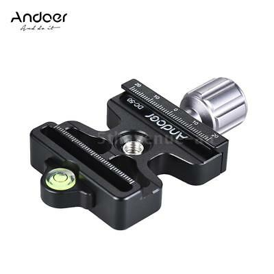 """Pro Quick Release Clamp Slide Plate Adapter 1/4"""" & 3/8"""" for Arca Swiss Manfrotto"""