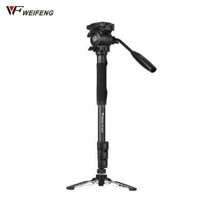 Weifeng WF-3958M Portable Aluminum Alloy Camera Monopod with Fluid Pan Head C0N3
