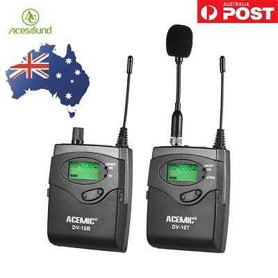 ACEMIC DV-10 UHF Wireless Transmitter Receiver Microphone Lavalier Lapel System