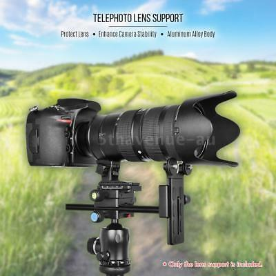 Andoer DSLR Camera Telephoto Lens Adapter Holder Tripod Head Quick Release Plate