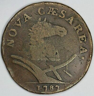 1787 1c New Jersey Colonial Copper UNSLABBED