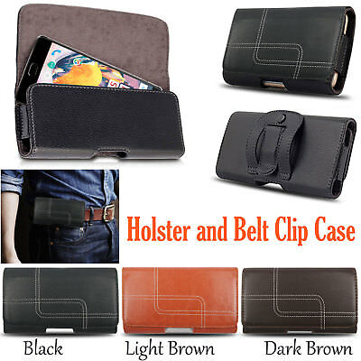 GENUINE Leather Belt Holster Flip Magnetic Case Cover Pouch Holder For New Phone
