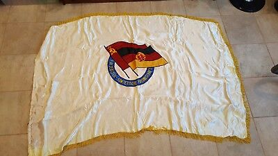 Fahne Flagge DDR Sowjetunion, East Germany Ostblock, NVA, GDR, MfS