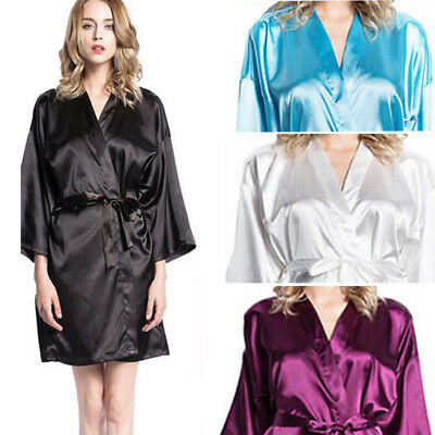 b3d5eedaa7 Women Robe Silk-Satin Robes Wedding Bridesmaid Bride Gown Kimono Robe HOT