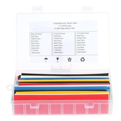30pcs Polyolefin Heat Shrink Tubing Tube Sleeving Wrap Wire Cable Kit 2:1 Y6W9