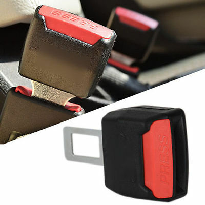 2x Universal Car Vehicle SUV Safety Buckle Seat Belt Clip Extender Extension