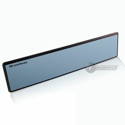 Broadway 300mm Wide Flat Blue Tinted Interior Clip On Rear View Mirror Universal
