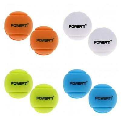 2Pcs Silicone Ball Vibration Dampeners Shockproof for Tennis/Squash Racquets