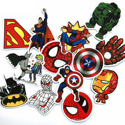 50pcs Super Heros Skateboard Stickers Pack, Cute Laptop Bicycle Luggage Labels