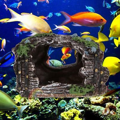 Fish Tank Aquarium Barrel Resin Ornament Cave Furnishing Landscaping Decoration