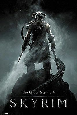 """The Elder Scrolls V Skyrim Large Maxi Wall Poster 24"""" x 36"""" Computer Game New"""