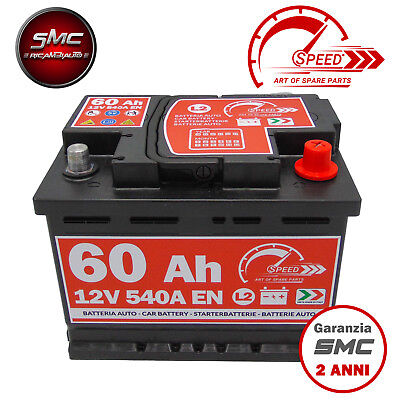 BATTERIA AUTO SPEED L2 60 Ah 540A EN = FIAMM 60 DX + PRONTA ALL'USO