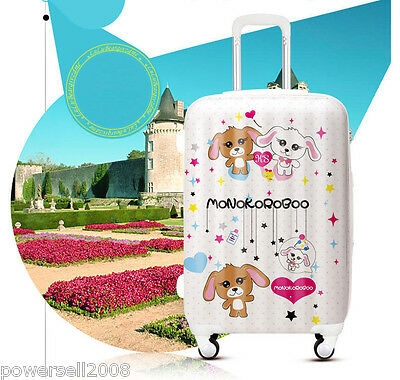 "#4 28"" New Lovely Couples Dog Universal Wheel ABS+PC Travel Suitcase Luggage LLX"