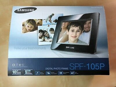 "Samsung SPF-105P Digitaler Bilderrahmen 10"" Display schwarz"