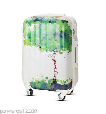 "28"" TSA Lock Universal Wheel Abstract Painting ABS+PC Travel Suitcase Luggage"
