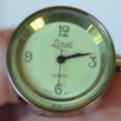Vintage Silver Tone Finger Watch Green Linel #2 Ring