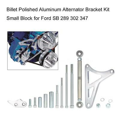 Billet Polished Alternator Bracket Small Block Windsor for Ford SB 289 302 347