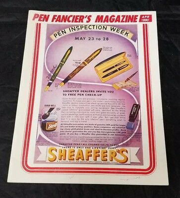 Pen Fancier's Magazine April 1990 Fountain Pen Club Sheaffer's FREE SHIPPING