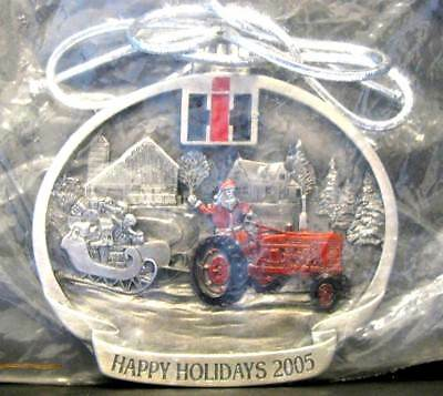 IH International Farmall H Tractor 2005 Pewter Christmas Ornament 2nd In Series