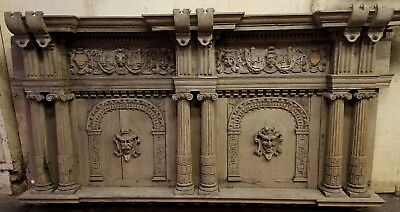 Stunning! Gothic Panel Antique French? Carved Wood Carving Architectural Salvage