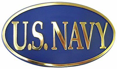 "US Navy Trailer Hitch Cover Standard 2"" Size [N-HC 04]"