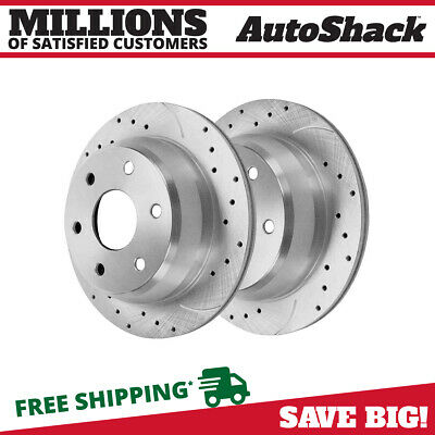Rear Drilled Slotted Rotors Pair (2) Fits 99-2006 Chevrolet Silverado 1500 56827