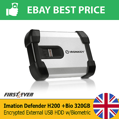 Imation Defender H200 +Bio 320GB Encrypted External USB Hard Drive w/Biometric