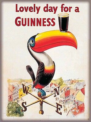 Lovely Day Guinness Beer Ireland Great Britain Vintage Travel Art Poster Print
