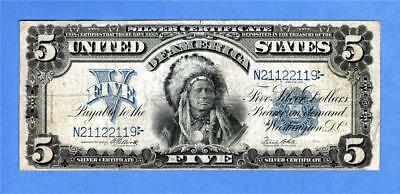 1899 $5 Silver Certificate, Chief, Mule,Repeater, Unique number,trinary, (#2081)