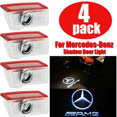 2/4 Logo LED Door Courtesy Light Ghost Shadow Laser Projector for Mercedes Benz