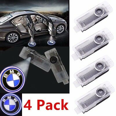 4X CREE LED Door Lights For BMW Projector Courtesy Puddle Shadow Laser Lamp Logo