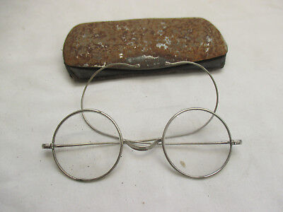 Vintage Steampunk Woc Co Spectacles + Case